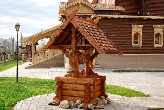 Деревянные колодцы фото