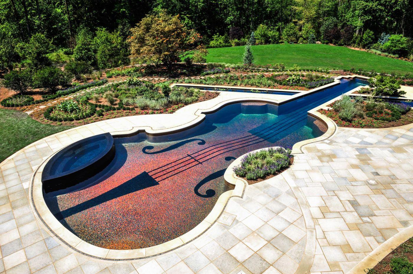 Ландшафтный дизайн - красивые идеи и стили сада 107 фото Бассейн в ландшафтном дизайне